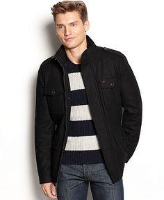 Levi's Coat, 4 Pocket Military Jacket - Mens Coats & Jackets - Macy's