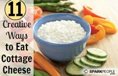 We LOVE cottage cheese. It's inexpensive, packed with protein, and makes a super filling snack or recipe ingredient. Here are some smart ways to eat (and cook with) this super food! | via @SparkPeople #nutrition #diet #healthy
