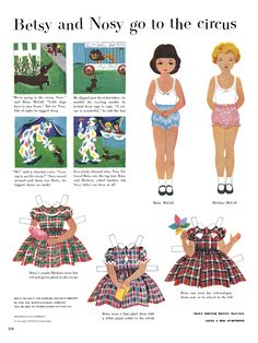 Betsy McCall Paper Dolls - 1952 printable Betsy McCall paper dolls--Memories!