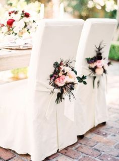 67 Ideas For Wedding Arch Floral Event Planning Wedding Chair Decorations, Wedding Chairs, Wedding Centerpieces, Tall Centerpiece, Wedding Tables, Wedding Flower Arrangements, Flower Bouquet Wedding, Floral Arrangements, Bridal Bouquets