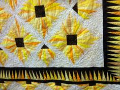 """""""Black-Eyed Susan in the Maryland Sunshine,"""" Raffle Quilt for 2013."""