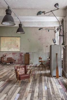 1000 images about loft and industrial interior design on for Decoration interieur original
