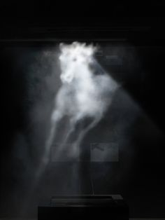 Banks Violette @ Maureen Paley (video projection on water vapour)