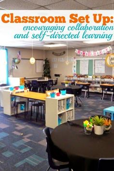 Classroom Set Up - Encouraging Collaboration and Self-Directed Learning. This post is full of pictures and ideas. I love how there are so many different places for students to work, and everything is so inviting!