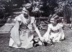 Princesses Elizabeth and Margaret.