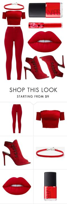 """Modern Maria"" by azazelacain on Polyvore featuring Karen Millen, Topshop, Lime Crime, NARS Cosmetics, modern, Hamilton, mariareynolds and hamiltontrash"