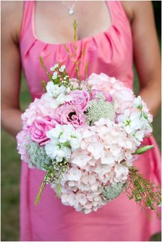 GORGEOUS #bouquet {Pink & White Southern Shabby Chic Wedding from Style by Design + Dana Duncan Photography}