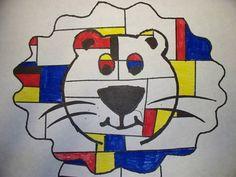 Piet Mondrian Art Projects Animal | Found on artsonia.com