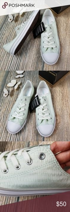 d9486adab477 New CONVERSE womens light green low top sneakers New in box CONVERSE womens  Chuck Taylor All