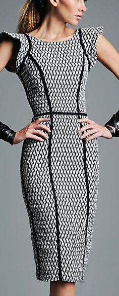structured dress - lines creating shape/silhouette