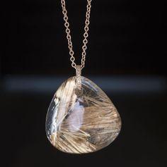 Jacquie Aiche Freeform Rutilated Quartz & Diamond Triple-Step Necklace Ct36h