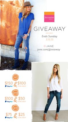 I entered the Jane.com #Giveaway for a chance to win prizes from 3brunettes Boutique! $500 in prizes this week!