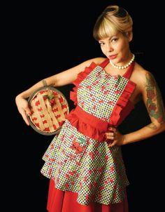 Ungie rockin a Lucy apron.  ©2013 HOUSE OF SANDOL. Carrie Tafoya photographer.