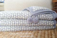 Channel Stitch crochet Blanket pattern NEW by KerryJayneDesigns