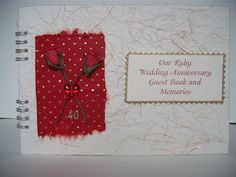 Ruby Wedding 40th Anniversary Guest Book Photo by TeeScrapbooks, £5.35 See more of my work https://www.etsy.com/shop/teescrapbooks