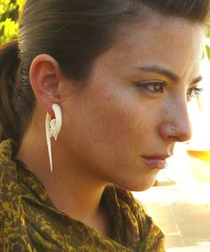 Fake Plugs Tribal Style Organic Gauge Earrings Urbanandnomad Urban Nomad Designs Pinterest Gauges And