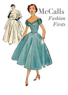 1950s EVENING Gown COCKTAIL DRESS Pattern door DesignRewindFashions