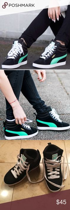 Puma Women's Classic Wedge Sneakers These have never been worn. No flaws at all. In new condition.  Suede with Rubber Sole. Get the best of both worlds in terms of style and function with the Classic Wedge Puma Sneaker! Puma Shoes