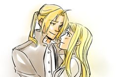 EdxWin by http://minuiko.tumblr.com/post/25705612050/someone-requested-ed-winry-i-miss-these-babies