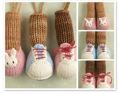 Toy knitting pattern for Little Cotton Rabbit animals alternative feet