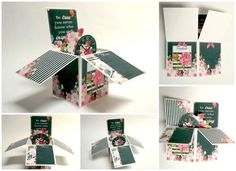 A inspirational card in a box that would be such a lovely card to receive!  The colours, the flowers and the message....all wrapped in this ingenious box...why not try making one today for your special someone!   Card in a box created using Authentic Collection from Nitwit Collections #cardmaking