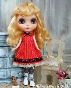 Blythe One Piece Sleeveless Dress. Made to by WhimsiesOnTheMoon
