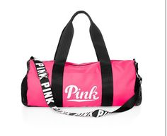 VICTORIA'S SECRET PINK BLACK WHITE WITH LOGO DUFFLE BAG ~ SOLD OUT - NWT!!! #VICTORIASSECRETPINK