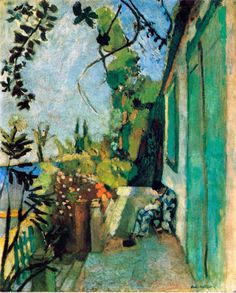 "Henri Matisse ""The Terrace, St. Tropez"", 1904, oil on canvas, 72 x 58 cm, Isabella Stewart Gardner Museum, Boston, MA, USA"