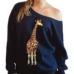 Giraffe Slouchy Oversized Off the Shoulder Sweatshirt JITSHIRT http://www.amazon.com/dp/B00P1JL63U/ref=cm_sw_r_pi_dp_XMK2vb0BFMH8V