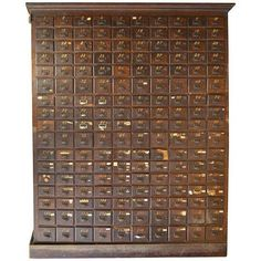 Late 18th Century, Oak Storage Apothecary File Card Catalog Cabinet Cupboard with 170 Drawers. Ships Free.