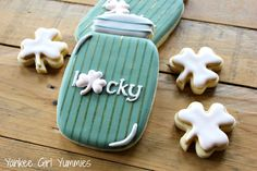 Lucky. St. Patrick's Day cookies by Yankee Girl Yummies