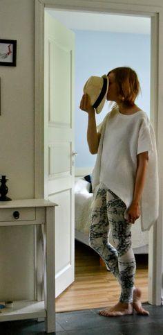 mallikelpoinen: Vimmainen setti #mmm14 Leggings and a loose shirt from linen.