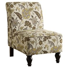 Found it at Wayfair - Floral Traditional Slipper Chair