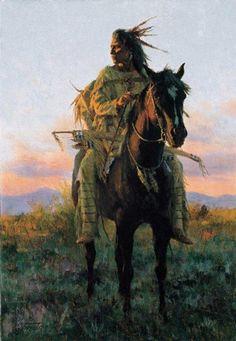 American Native Indian On Horseback