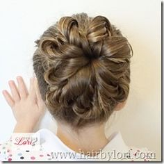 Twisted flower bun - Hair By Lori