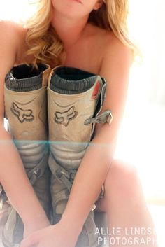 dirtbike boudoir pictures - Google Search I think this is cool for a gal whose got a guy into dirt bikes etc...