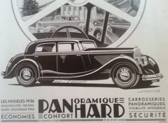 Original Vintage French Ad Panhard Automobile by reveriefrance