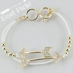 White gold tone arrow bracelet New! Price final unless bundled for 15% off. No paypal or trades Jewelry Bracelets