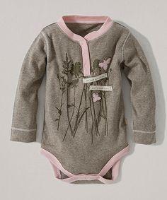 Love this Dark Sand Heather Buzz Around Organic Henley Bodysuit - Infant on #zulily! #zulilyfinds