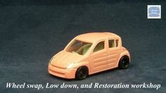 TOMICA 027F TOYOTA WILL VI #WHEELSWAP #LOWDOWN | v.68 | PINK | TOMY 2E