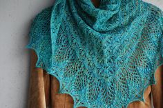 A hand knit shawl that includes lace and bobbles is simply my favorite type of knitting project. Choice of yarn and needles makes it one of a kind!