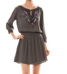 Lace Back Flared Dress