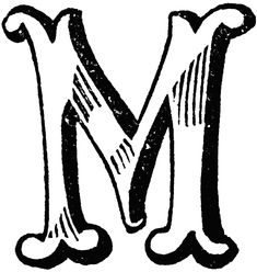 M | Decorative Letter M | ClipArt ETC