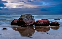 Stones in water - Pinned by Mak Khalaf Fine Art stones water mare clouds red blue by paulklaus3