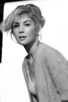Rosamund Pike is the image of old fashioned ethereal beauty