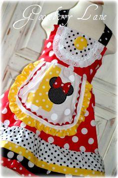 Gooseberry Lane Originals Miss Minnie Dress Perfect for Birthday. $60.00, via Etsy.