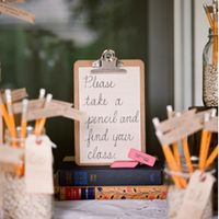 table seating sign for school theme