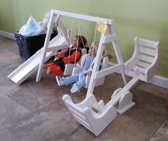 Doll Swing Set Solid Wood Toy Furniture Photo by AlaratessAlexbres