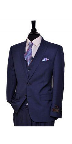 Tiglio Lux Men's Suit Medium Blue - MADE IN ITALY