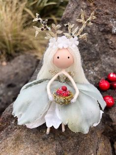 Your place to buy and sell all things handmade Christmas Wonderland, Christmas Fairy, Christmas Crafts, Christmas Ornaments, Handmade Flowers, Handmade Crafts, Handmade Ceramic, Handmade Pottery, Fairy Tree